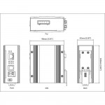 ED3541 Hardened Industrial 10/100BASE-TX Ethernet Extender