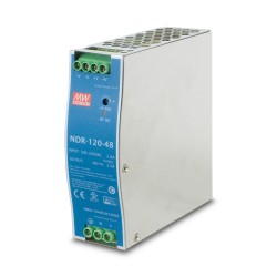 NDR-120-48 120w 48V DC Din-Rail Power Supply w/ adjustable 48-56V DC Output