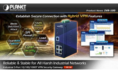 Planet IVR-100 Establish Secure Connection with Hybrid VPN Features