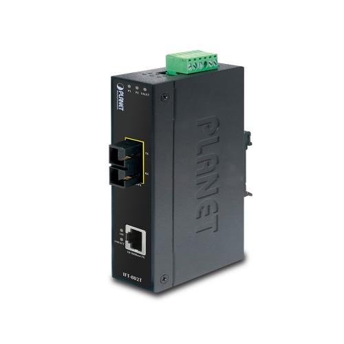 IFT-802TS15 - 10/100Base-TX to 100Base-FX Industrial Media Converter - 15km