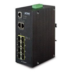 IGS-10080MFT - Industrial 8 100/1000X SFP + 2-Port 10/100/1000T Managed Switch (-40~75 degrees C)