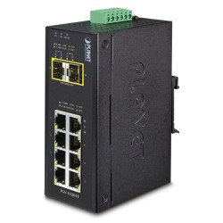 IGS-1020TF - Industrial 8-Port 10/100/1000T + 2-Port 100/1000X SFP Ethernet Switch (-40~75 degrees C)