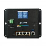 WGR-500-4PV Industrial Wall-mount Gigabit Router with 4-Port 802.3at PoE+ w/ LCD Touch Screen