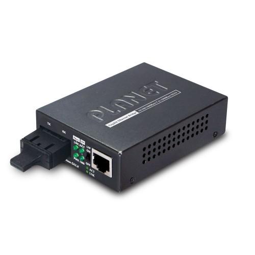 GT-802S - 10/100/1000Base-T to 1000Base-LX Media Converter (SC,SM)-10km