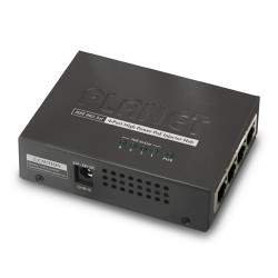 HPOE-460 - 4-Port IEEE 802.3at High Power over Ethernet Injector Hub