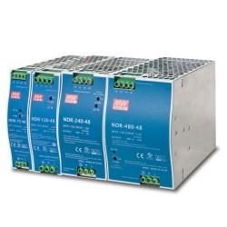 PWR-120-48/PWR-240-48/PWR-480-48/PWR-75-48  - DC Single Output Industrial DIN Rail Power Supply Units
