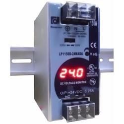 LP1150D-24MADA 150w 24vdc Din-Rail Power Supply w/ DC Voltage Monitor